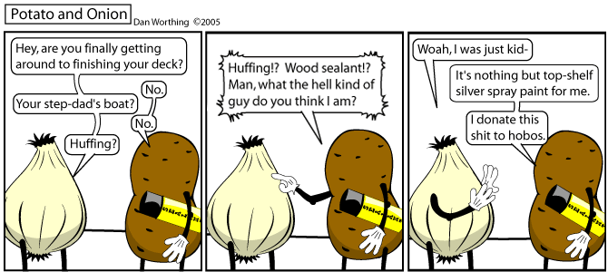 Thanks to Lady Linton for helping me make my dream of a comic about huffing come true.