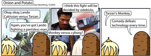 Monkeys are much funnier than a guy with a metal haircut, well, maybe not METAL haircut.